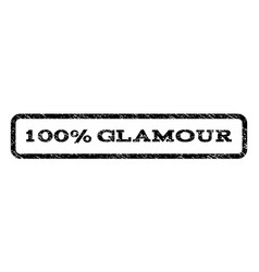 100 percent glamour watermark stamp vector