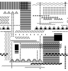 abstract seamless geometric techno pattern vector image