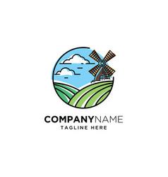 Agriculture logo design template vector