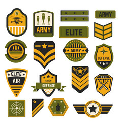 army signs and badges or stripes elite military vector image