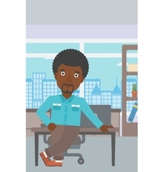 Businessman standing in the office vector