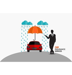 Car insurance business service concept of i vector