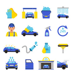 Car washing equipment cleaning service vector
