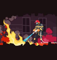cartoon firefigher vector image