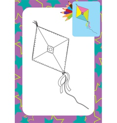 Cartoon kite toy vector image