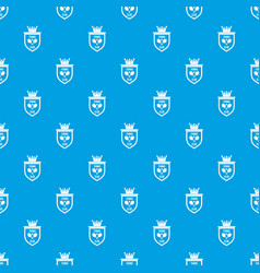 Coat of arms of tennis club pattern seamless blue vector
