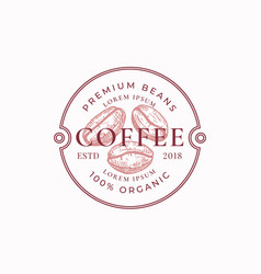 coffe badge or logo template hand drawn coffee vector image