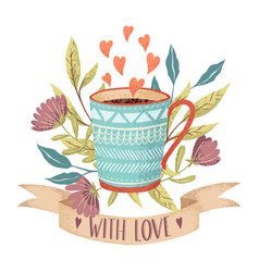 Coffee cup love vector