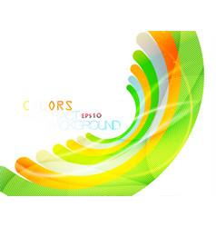 Colored curve view scene vector