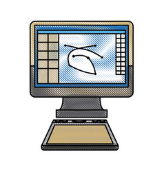 Computer graphic design digital for web vector