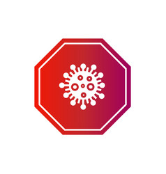 Corona virus sign and symbol design isolated vector