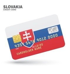 Credit card with Slovakia flag background for bank vector