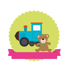 Cute baby toys icon vector