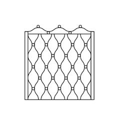 Decorative Metal Grid Fencing Design vector image