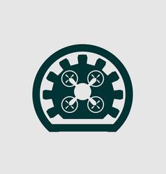 Drone quadrocopter icon emblem vector