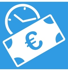 Euro Recurring Payment Icon vector