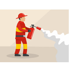 firefighter concept flat style vector image