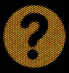 Hexagon halftone query icon vector
