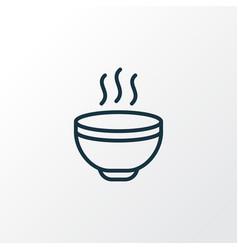 hot soup icon line symbol premium quality vector image