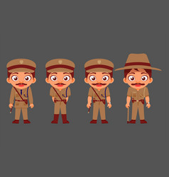 indian man police characters government employees vector image