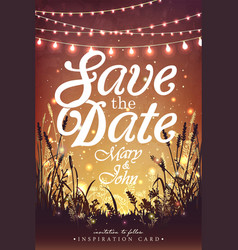 Inspiration card for wedding date birthday vector