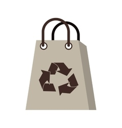 Isolated eco recycle bag design vector