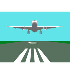 Landing airplane vector