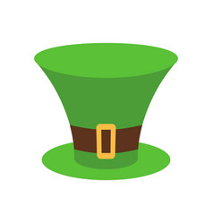Leprechaun hat green isolated national irish vector