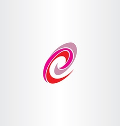 letter e red magenta spiral logo icon vector image