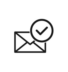 Mail confirmation simple modern icon design vector