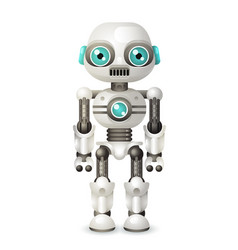 modern android robot character artificial vector image