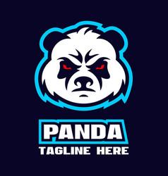 modern angry panda logo vector image