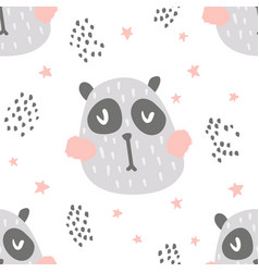 Nursery panda pattern vector