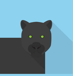 panther icon set of great flat icons design vector image