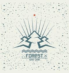 Pine forest emblem vector image