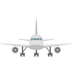 Plane icon travel airplane front view vector