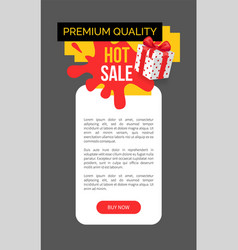 Premium quality of products bought on sale in shop vector
