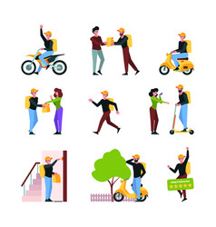 product delivery urban transport for delivery vector image