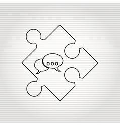 puzzle piece design vector image