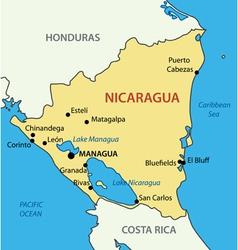Republic of Nicaragua - map vector