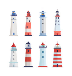 sea lighthouse set a tower with a floodlight on vector image