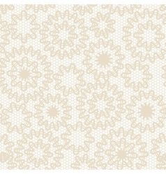 Seamless beige abstract lace vector image
