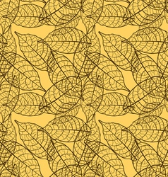 Seamless leaves brown background vector