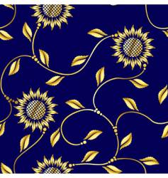 seamless sunflower vector image
