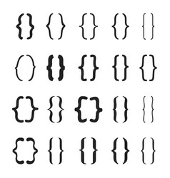set of braces or curly brackets icon vector image