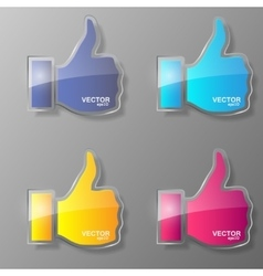 Set of glass like symbol vector image vector image