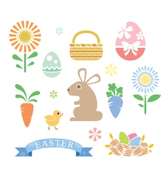 Simple Style Happy Easter Cartoon vector
