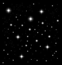 Starlight on black background vector