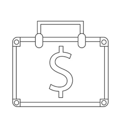 suitcase bag money business symbol vector image