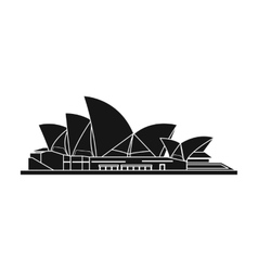 Sydney Opera House icon in black style isolated on vector